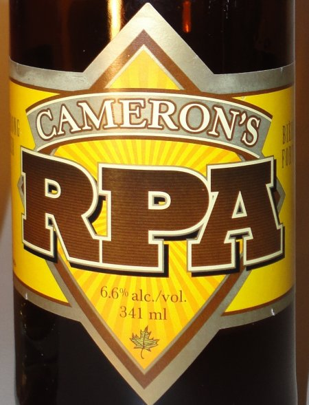 Cameron's Rye Pale Ale Now Available