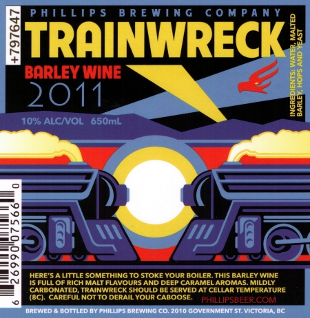 Phillips Trainwreck Barley Wine Awarded CCBA 2011 Label of the Year