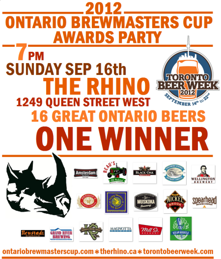 Ontario Brewmasters Cup Awards Party To Be Held This Weekend
