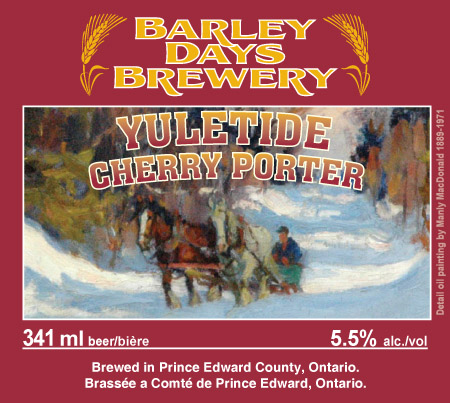 Barley Days Brings Back Yuletide Cherry Porter for Another Holiday Season