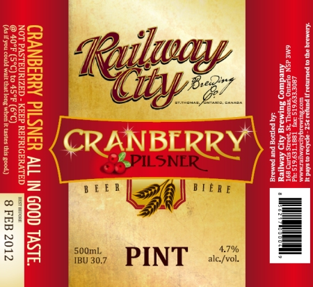 Railway City Cranberry Pilsner Released After All