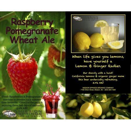 Mission Springs Releases a Pair of Fruit Beers as Late Summer Seasonals