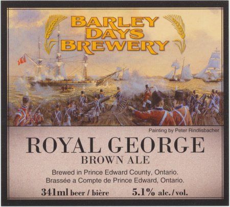 Barley Days Royal George Brown Ale Awarded CCBA 2012 Label of the Year