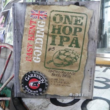Garrison Continues One Hop IPA Series With East Kent Golding Edition