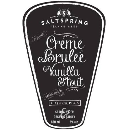 Salt Spring Island Ales Crème Brûlée Vanilla Stout Returns for the Holidays