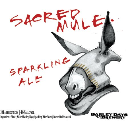 Barley Days Sacred Mule Sparkling Ale Now Available