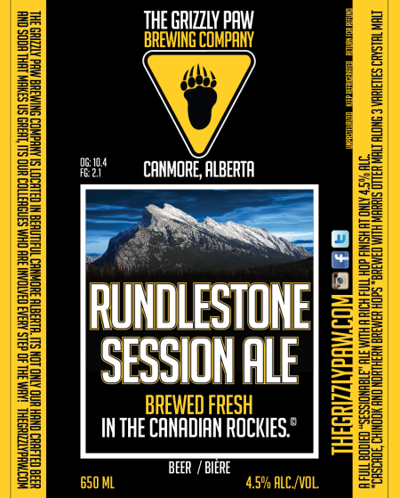 Grizzly Paw Rundlestone Session Ale Now Available