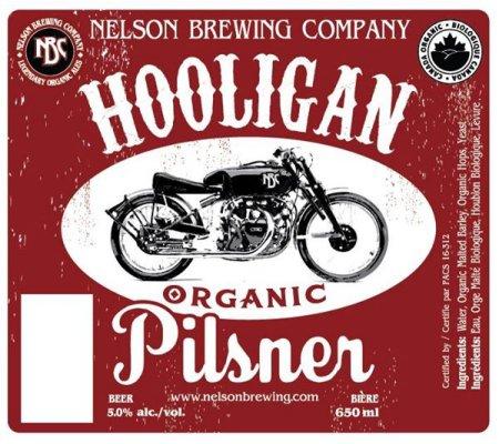 Nelson Brewing Hooligan Organic Pilsner Coming Soon