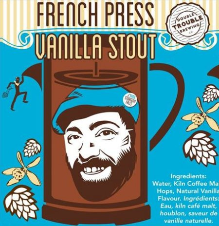 Double Trouble French Press Vanilla Stout Ships to Manitoba