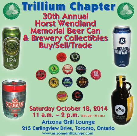 Details Announced for Fall 2014 Trillium Chapter Brewery Collectibles Show