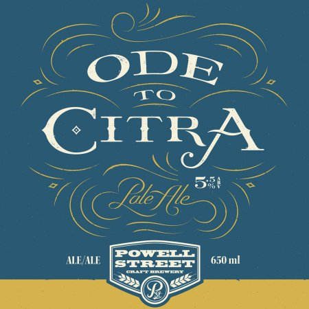 Powell Street Ode to Citra Pale Ale Released in Bombers This Friday