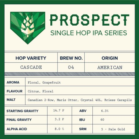 Left Field Prospect Single Hop IPA Series Wraps Up for 2014 with Cascade