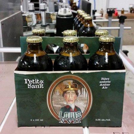 Les Brasseurs du Petit-Sault Releases Louis XVII Amber Ale in Bottles