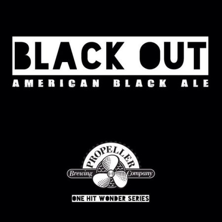 Propeller One Hit Wonder Series Continues with Black Out American Black Ale