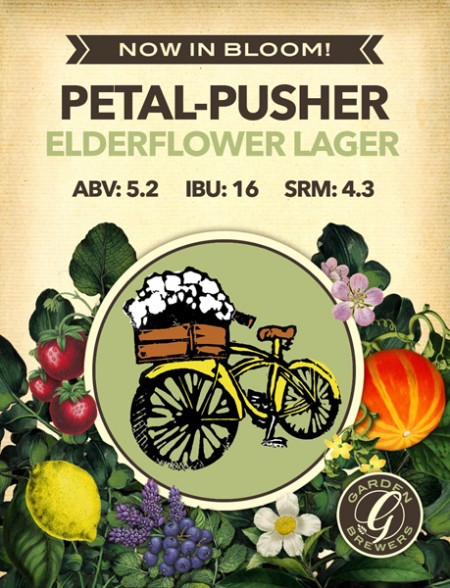 Garden Brewers Launches Now In Bloom! Series with Petal-Pusher Elderflower Lager
