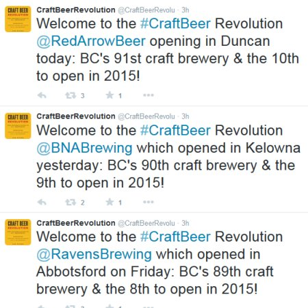 Ravens, BNA & Red Arrow Brewing Companies Open in British Columbia