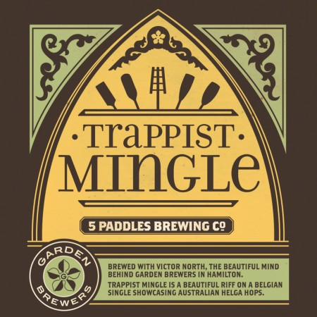 5 Paddles & Garden Brewers Releasing Trappist Mingle Collaborative Ale
