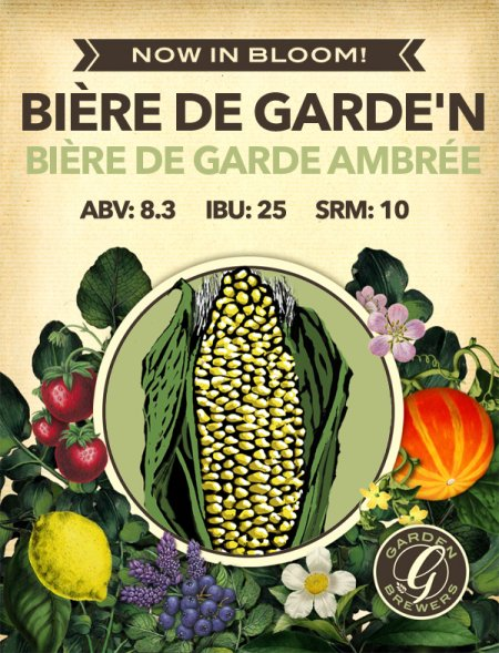 Garden Brewers Continues Now In Bloom! Series with Bière de Garde'n