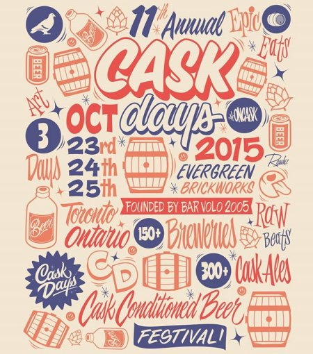 Full Beer List & Other Programming Details Announced for Cask Days 2015