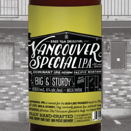 R&B Brewing Releases Vancouver Special IPA