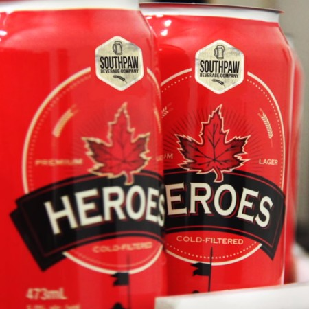 Southpaw Beverage Company Launches in Ontario with Heroes Blonde Lager