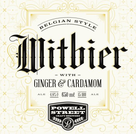 Powell Street Belgian Witbier with Ginger & Cardamom Out This Week