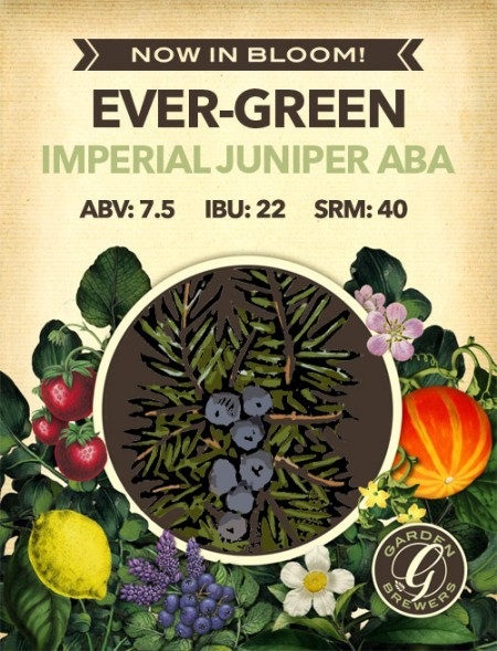 Garden Brewers Continues Now In Bloom! Series with Ever-Green Imperial Juniper ABA