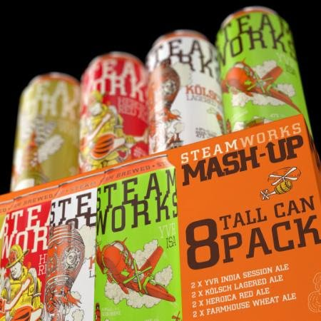 Steamworks Releases Mash-Up Tall Can Sampler Pack for Summer