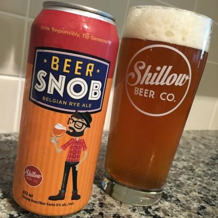 Shillow Beer Co. Releases Beer Snob Belgian Rye Ale