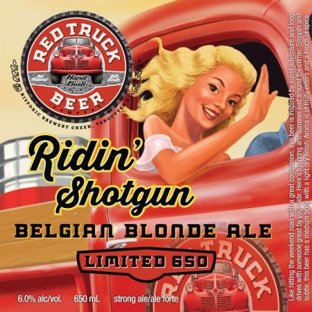 Red Truck Ridin' Shotgun Belgian Blonde Ale Named CCBA 2015 Label of the Year