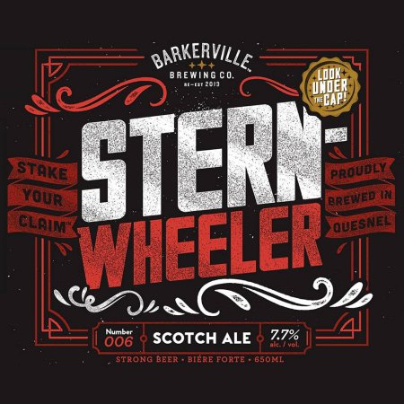 """Barkerville Brings Back Sternwheeler Scotch Ale with """"Look Under The Cap"""" Contest"""