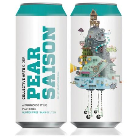 Collective Arts Launching Pear Saison Farmhouse Cider