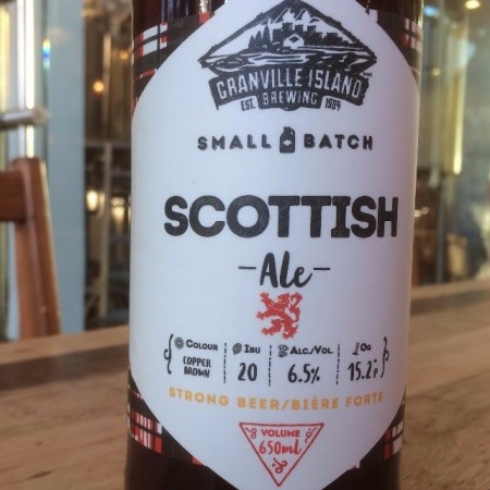 Granville Island Small Batch Series Continues with Scottish Ale