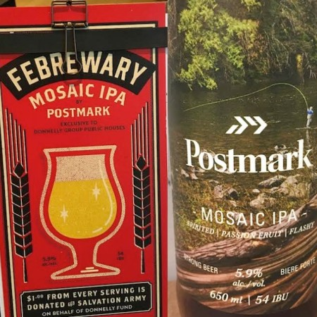Donnelly Group & Postmark Brewing Holding Fe-BREW-ary Charity Fundraising Campaign