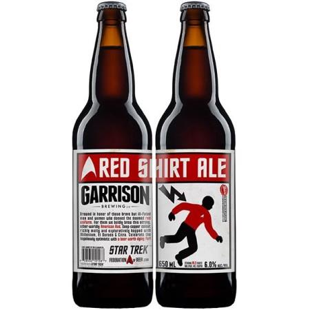 Garrison Brewing & Federation of Beer Release Star Trek Red Shirt Ale