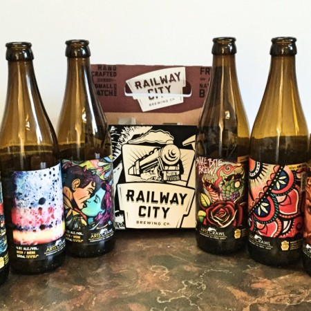 Railway City Brewing Releasing Limited Edition Six-Pack for Railway City Arts Crawl