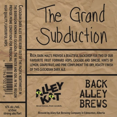 Alley Kat Back Alley Brews Series Continues with The Grand Subduction