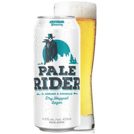 Amsterdam Pale Rider Dry Hopped Lager Now Riding Solo