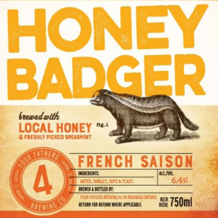 Four Fathers Announces Limited Bottle Release for Honey Badger French Saison