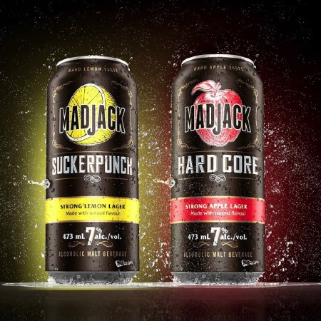 Molson Coors Adds Suckerpunch Strong Lemon & Hard Core Strong Apple to Mad Jack Brands