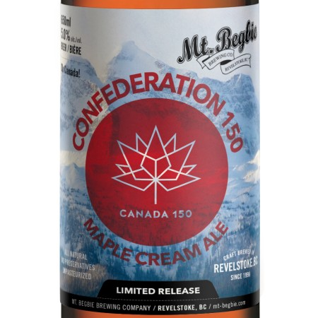 Mt. Begbie Announces Confederation 150 Maple Cream Ale