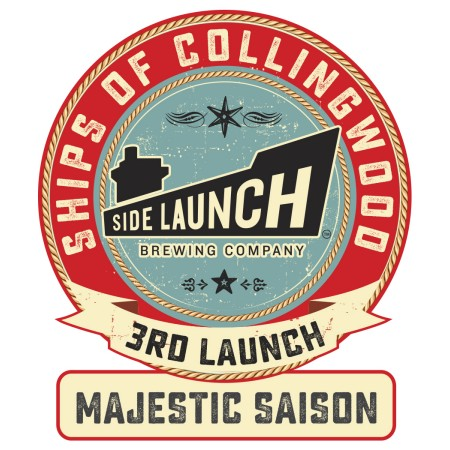 Side Launch Ships of Collingwood Series Continues with Majestic Saison