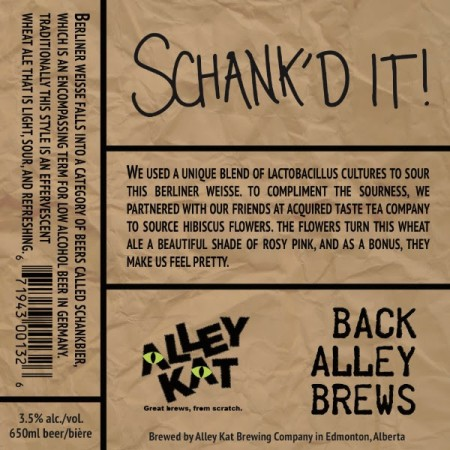 Alley Kat Back Alley Brews Series Continues with Schank'd It!