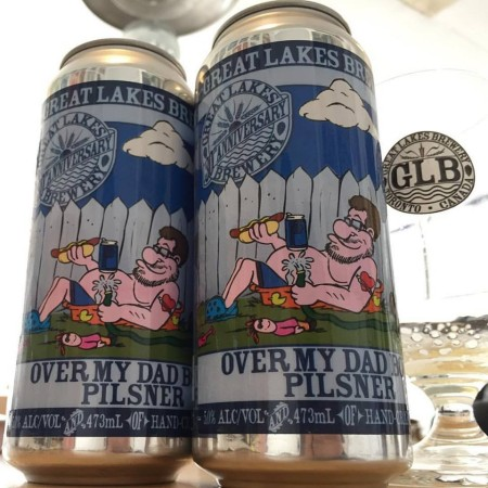 Great Lakes Releases Over My Dad Body Pilsner