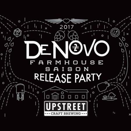 Upstreet Releasing Delayed De Novo II Farmhouse Saison This Week