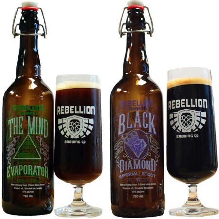 Rebellion Brewing Releases Pair of Bourbon Barrel Aged Beers