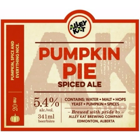 Alley Kat Pumpkin Pie Spiced Ale Making Annual Return Next Week