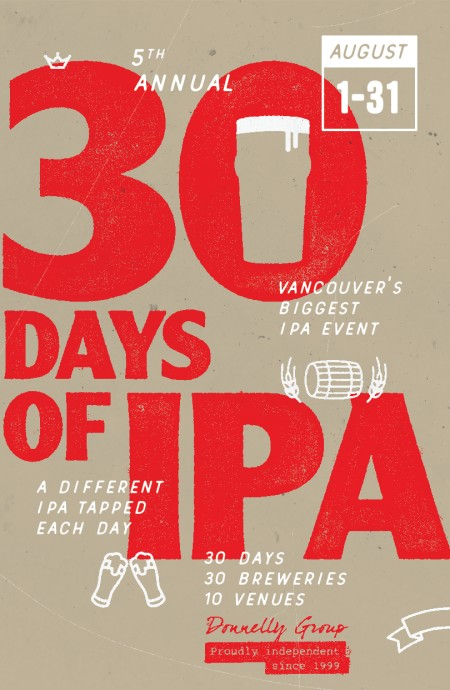30 Days of IPA Returns for Fifth Year at Vancouver's Donnelly Group Pubs