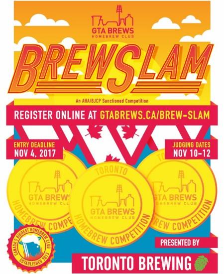 GTA Brews Announces Brew Slam 2017 Homebrewing Competition