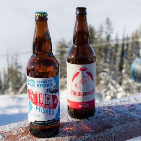 Mt. Begbie Brewing and Revelstoke Mountain Resort Release 10th Anniversary Edition of Thigh Burner Pilsner